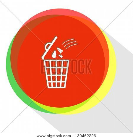 bin. Internet template. Vector icon.