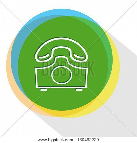 rotary phone. Internet template. Vector icon.