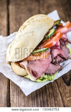Fresh Made Sandwich (with Roast Beef)