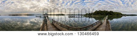 360 degree panorama of South Carolina lowcountry