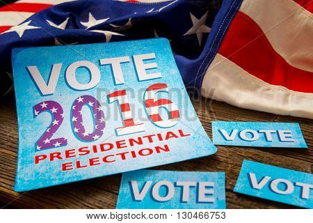 Composition of objects related to presidential election in USA