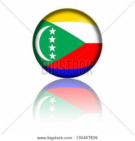 Comoros Flag Sphere