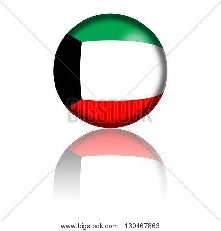 Kuwait Flag Sphere