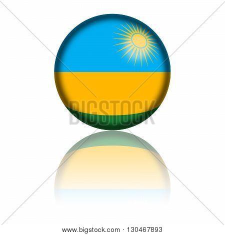 Rwanda Flag Sphere