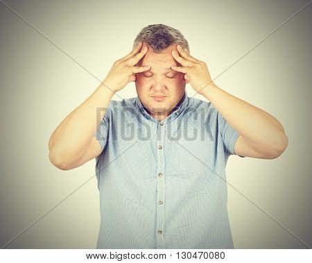 Businessman Desperate, Depressed, Headache.