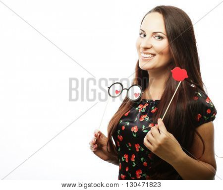 playful young woman ready for party