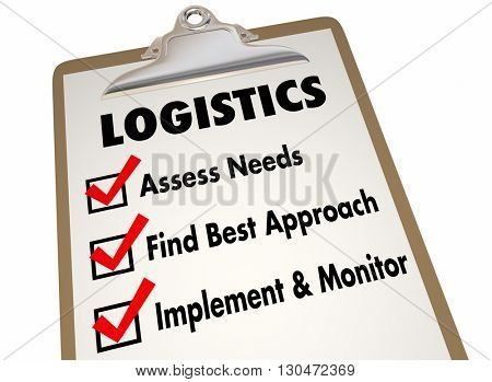 Logistics Clipboard Checklist Manage Shipping Deliveries 3d Illustration