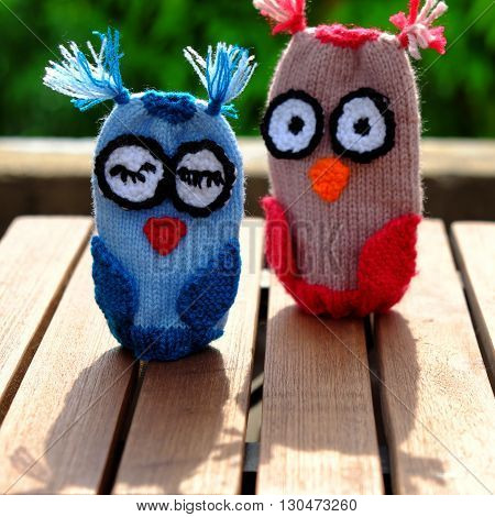 Diy Toy, Knit Owl Puppet