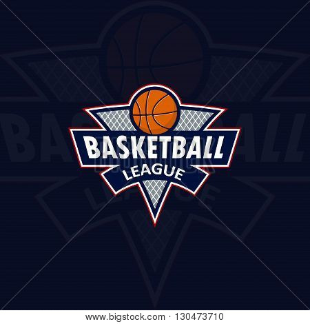Logo for the basketball team or a league on a white background