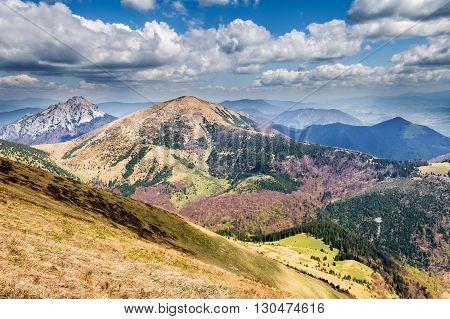 Slovakian Little Fatra Hills - Stoh And Big Rozsutec Peaks