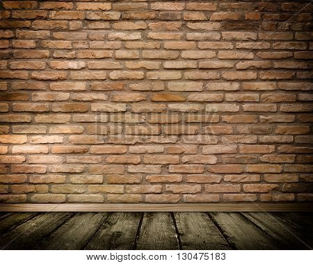 Background of old bricks wall for the design.