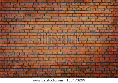 Red brick wall background for the design. Natural bricks texture.