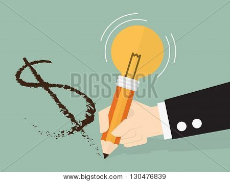 Making money from an idea eps 10 vector illustration