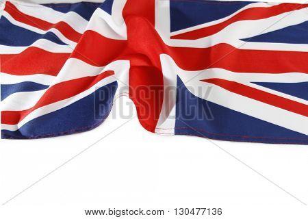 Union Jack flag on plain background
