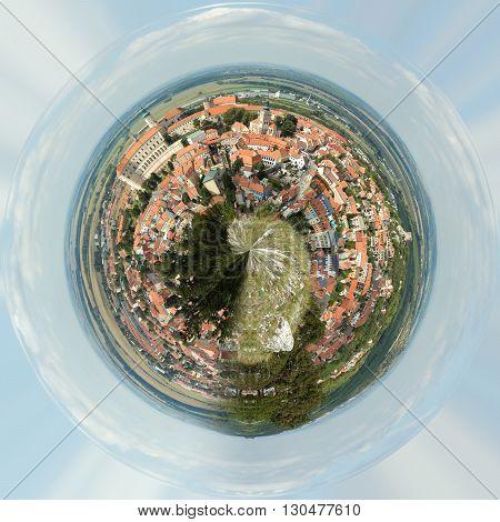 Planet Of Panorama Of Mikulov