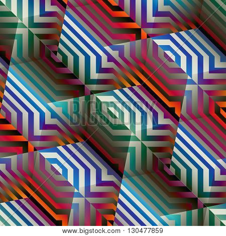 Seamless abstract background in a geometric cubes style and strikes