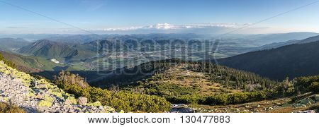 Slovak Gorgeous Mountainous Landscape With Blue Sky