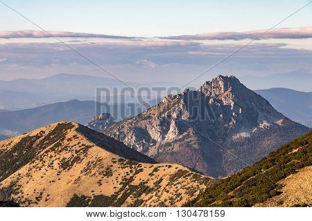 Stony Big Rozsutec Peak, Little Fatra, Slovakia