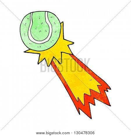 freehand textured cartoon tennis ball serve