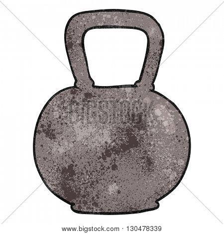 freehand textured cartoon 40kg kettle bell weight