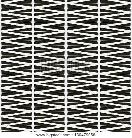 Seamless abstract vector pattern triangle in black and white backgrond