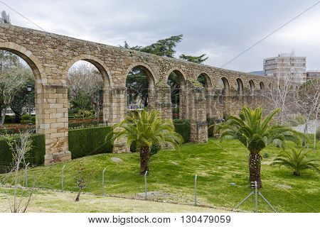 Aqueduct of San Anton in Plasencia province of Caceres Spain