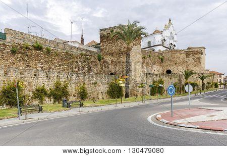 City wall of Plasencia Caceres Extremadura. Spain
