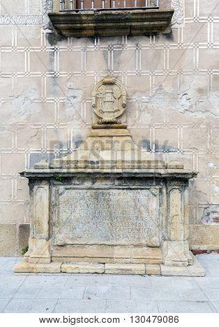 Door Trujillo of Plasencia Caceres Extremadura. Spain 1799 Detail