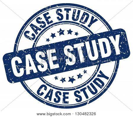 case study blue grunge round vintage rubber stamp