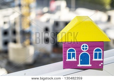 House keys on a background of construction