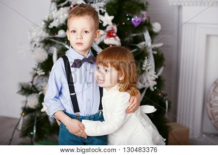Portrait Of A Happy Children - Boy And Girl.