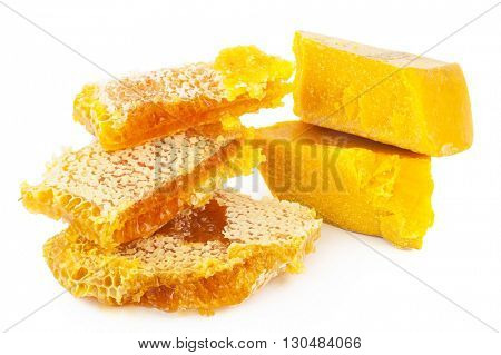 Honeycomb and wax