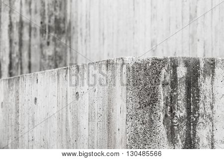 Abstract Concrete Interior With Gray Grungy Wall