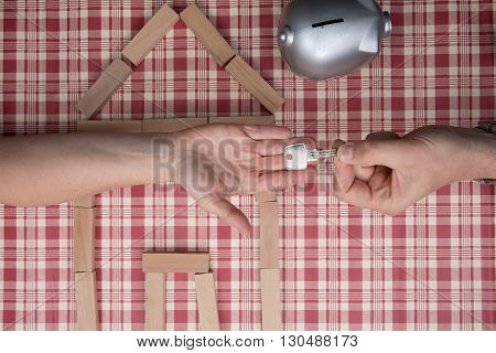 House From Toy Building Blocks Buying A House