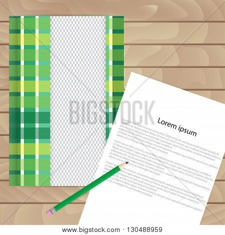 Vector Template For Brochures, Covers, Flyers Or Business Reports. Checkered Green Theme.
