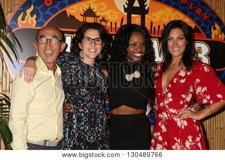 LOS ANGELES - MAY 18:  Tai Trang, Aubry Bracco, Cydney Gillon, Michele Fitzgerald at the Survivor: Kaoh Rong Finale at the CBS Radford on May 18, 2016 in Studio City, CA