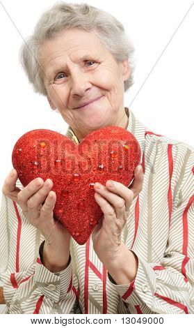 Senior Woman With Heart