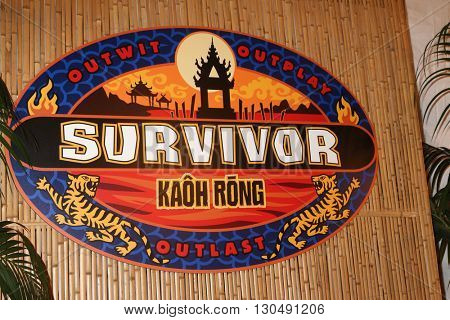LOS ANGELES - MAY 18:  Survivor: Kaoh Rong Emblem at the Survivor: Kaoh Rong Finale at the CBS Radford on May 18, 2016 in Studio City, CA