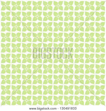 Vector vintage floral pattern on green background.