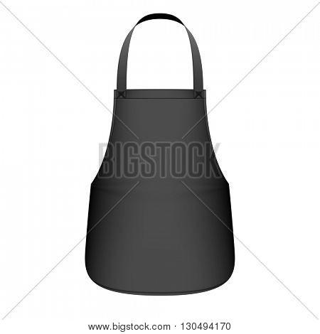 Black kitchen apron vector illustration