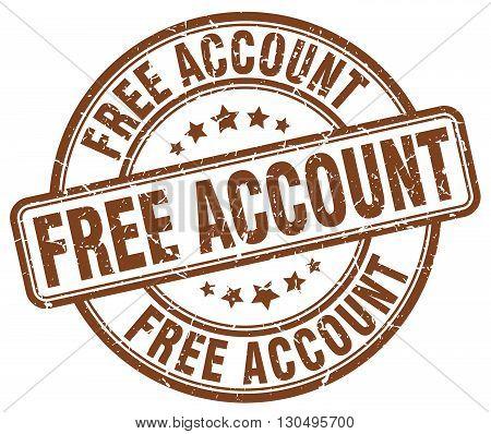 free account brown grunge round vintage rubber stamp