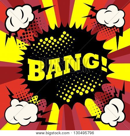 Comic Speech Bubble explosion with text Bang, vector illustration