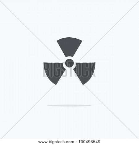 Radiation. Radiation Icon. Vector illustration on a light background.