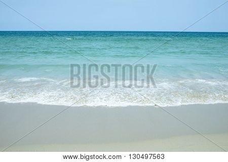 Landscape shot. Sea beach and sky.  Beautiful nature