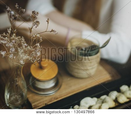 Cafe Chilling Coffee Lifestyle Relaxation Casual Concept