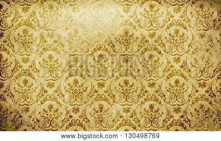 Old dirty paper background with old-fashioned patterns. Vintage paper texture for the design.
