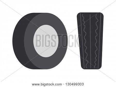 Car tire vector illustration.