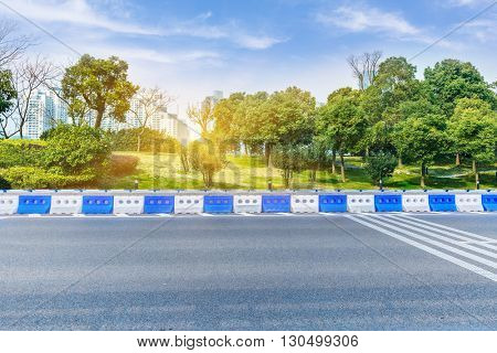 clean road with building background