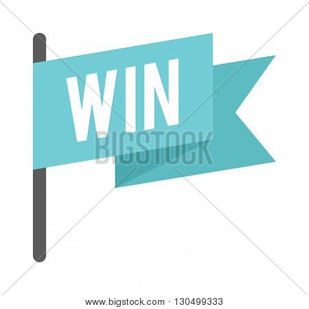 Win flag vector illustration.