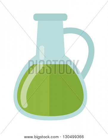 Carafe with liquid vector illustration.